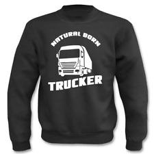 Pullover Natural born Trucker I Fun I Sprüche I Lustig I Sweatshirt