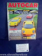 AUTOCAR Magazine 17th October 2001 Lamborghini
