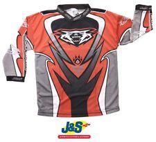 Wulfsport Attack Kids MX Shirt Childrens Motocross Jersey Off-Road Moto-X Red