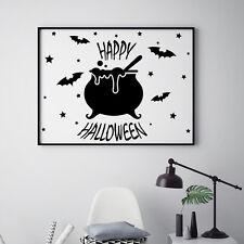 Wall Decal Halloween Decal Bat Sticker Star Vinyl Holiday Home Art Decor  MA386