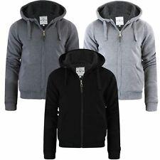 Mens Brave Soul Sherpa Fleece Fur Lined Borg Hoodie Winter Sherpa Hooded Jacket