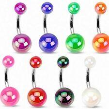 Piercing Navel Balls Acrylique Metallic