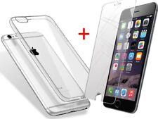Handy Hülle Silikon Case für Apple iPhone 5 - 7 mit Schutzglas / Schutzfolie