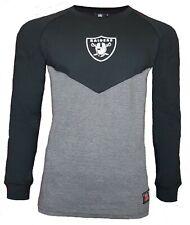 NFL Las Vegas Raiders T Shirt Mens ALL SIZES Raglan Long Sleeve Jersey