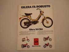 advertising Pubblicità 1983 GILERA 50 CBA