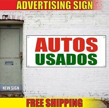 Autos Usados Banner Advertising Vinyl Sign Flag spanish used car dealership shop