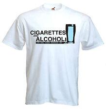 SIGARETTE & Alcol T-Shirt-Oasis Noel Liam Gallagher Britpop Manchester