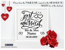 Novelli Sposi In Vinile Adesivo Per Box Telaio-Matrimonio-IKEA o Hobby Craft FRAME