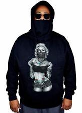 Mens Marilyn Monroe Standing Bandana Mask Hoodie Sexy Weed Tattoo Sweater Jacket