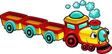 Stickers enfant Train à vapeur réf 3559 (Dimensions de 10cm à 130cm de largeur)