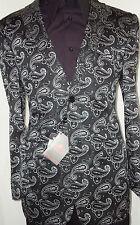 Cool Leonardi Jacket Edition 711 Black White Paisley Dot Elegant Woven Jacquard