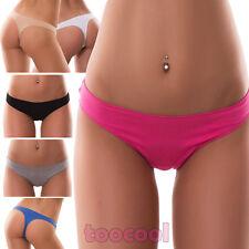 Stock 6 pezzi Perizoma slip donna thong liscio tanga elasticizzato nuovo 368-6