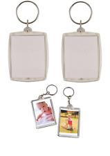 12 x Clear Photo Holder Key Chain Photo Holder Photo Frame Key Ring Pocket 6x8cm