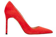 New Manolo Blahnik BB 105 Orange Suede Shoes Pumps 34.5 35 36 36.5 38 39 40 41.5
