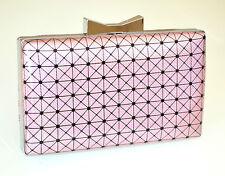 POCHETTE donna ROSA LILLA borsa borsello clutch bag elegante cerimonia sac E115