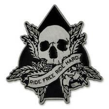 PinMart's Ride Free Ride Hard Skull Spade Biker Enamel Lapel Pin