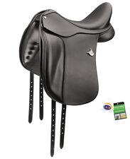 "Bates Dressage Adjustable Performance Deep Seat Saddle with CAIR Black 16""-18"""
