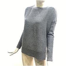Woolrich Maglione Donna Pullover Largo Grigio in Lana Modal Maglia WWMAG1623