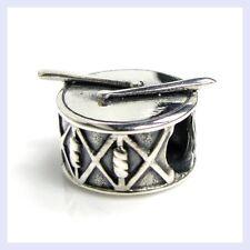 .925 Sterling Silver Music Instrument Drum Stick Bead f/ European Charm Bracelet