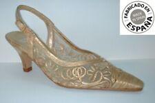 Zapato tacón Fiesta color  Oro tallas 35 y 36