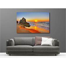 Quadro tela decocrazione rettangolare tramonto de sole spiaggia 31490437