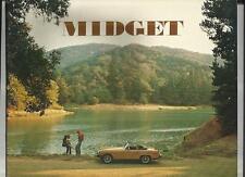 Mg Midget SALES BROCHURE 1976 USA mercato