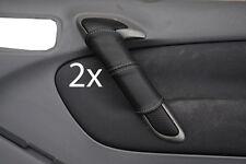 grey stitch FITS TOYOTA RAV4 00-03 2X DOOR HANDLE LEATHER COVERS