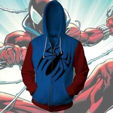 Scarlet Spider-Man Hoodie Sweatshirts Cosplay Costume Zipper Coat Jacket New
