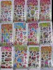 BUY 2 GET 1 FREE CHILDREN'S CHARACTER 3D STICKERS CRAFT FUN  REWARD SCRAP BOOK
