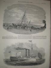 Cortador Grande yate la alarma Capsizes barnpool y vapor Griffith Buffalo 1850