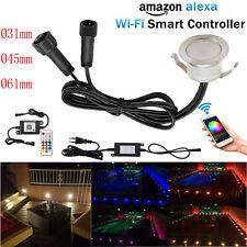 31mm-61mm WIFI Controller RGB/WW LED Bodeneinbaustrahler Terrasse Außenleuchte