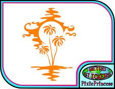 Wall Art sticker decal vinyl 0123 Plant rubber plant Palm tree 3 sizes