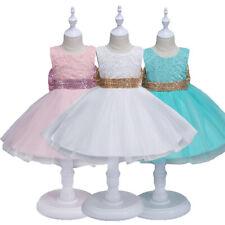 Flower Girl Princess Dress Baby Kids Party Wedding Bridesmaid Formal Tutu Dress