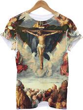 ADORATION ALL OVER PRINT CHRIST T SHIRT JESUS CROSS HOLY GRAIL SWAG MEN RELIGION