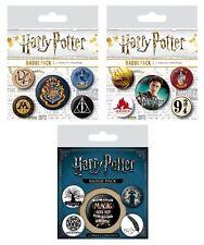 5 Piece Badge Pack - Genuine Harry Potter Button Badges Warner Bros Hogwarts