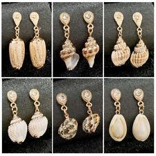 Women Sea Shell Pendant Statement Dangle Drop Earrings Jewelry Summer Earrings