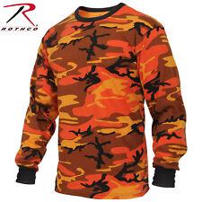 Men's Long Sleeve Orange Camo T-Shirt - Rothco Savage Orange Camouflage L/S Tee