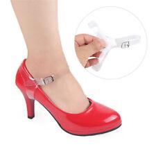 Frauen Mädchen Polyurethan Leder Verstellbare Schuhbänder High Heel Ankle Strap