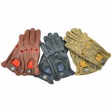 Mens Real Genuine aniline Classic en cuir de conduite et fashion gants
