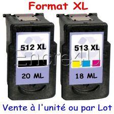 Cartouches d'encre remanufacturées CANON PG 512 XL et CL 513 XL ( PG512 CL513 )