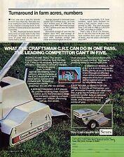 1982 Sears Craftsman CRT Counter Rotating Tines Task Handler Tiller Print Ad