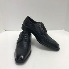 Men's Black Dress Shoes Bolano Exotic Print Bike Track Oxfords US Sizes 9 - 9.5