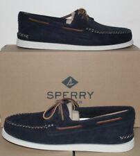 Sperry Top Sider A/O Cuña De Ante Azul Marino STS15142