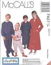7427 2999 Vintage UNCUT McCalls SEWING Pattern Childrens Robe Pajamas PJ SEW VTG