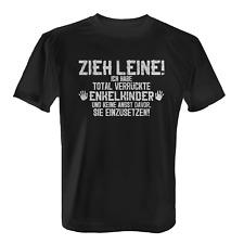 Enkelkinder Zieh Leine Herren T-Shirt Spruch Geschenk Opa Großvater Enkel Lustig