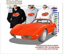 77 CORVETTE STINGRAY HOODIE ILLUSTRATED CLASSIC RETRO MUSCLE CAR