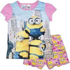 NEW Genuine Licensed Girls Pink Minions Summer Pjs/Pyjamas - Sizes 3,4,5,6 & 7