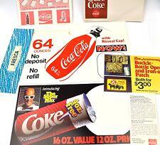 Coca-Cola Coke Drucksachen Flaschen-Anhänger Coupons USA Bottle Hanger