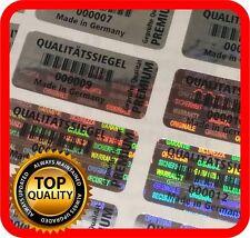 Qualitätssiegel Hologramm Etiketten Garantie Siegel Sicherheitsaufkleber 32x15mm