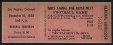 1928 Pacific Fleet vs L.A. Firemen  FB Game Full Ticket